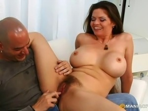 Sex-addicted mom getting her pussy hammered and creamed with warm sticky cum