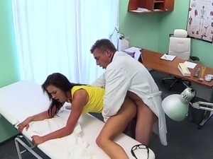 Doctor fucking his beautiful patient from behind