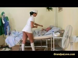Grandpa babe fucking the nurse free