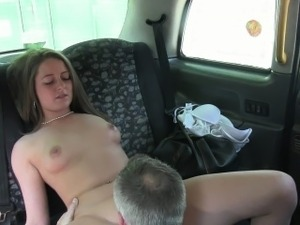 British amateur bangs in fake taxi in public