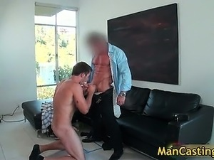 Good looking gay dude sucks stiff rod part1