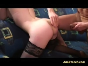 cute french girls first anal threesome free