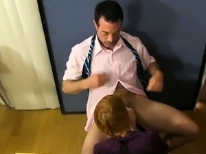 Gay twinks Teacher Mike Manchester is working late, but he\'s