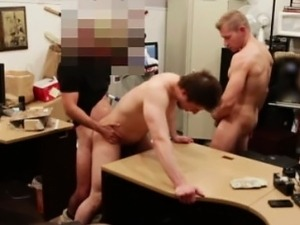 Straight dude gay sucked and fucked in pawn shop