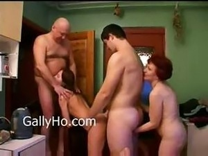 Russian family members participate in drunken gangbang party