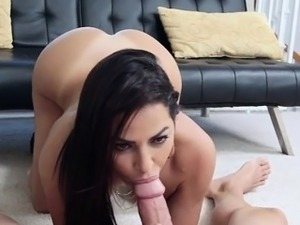 Latina Maid Julianna Has Her Pussy Pumped From Behind
