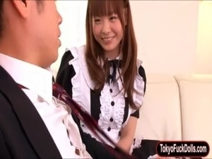 Cute Japanese maid Anri Sonozaki fucked free