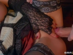Abbie Cat is a round assed blond babe that is