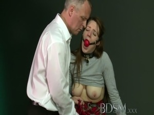 BDSM XXX Caged sub learns the hard way with anal treatment from her Master free