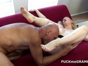 grandpa lucky with hot young girl