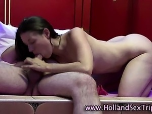 Dutch hooker fucked and cummed on