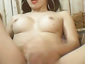 Tranny Playing with her Cock