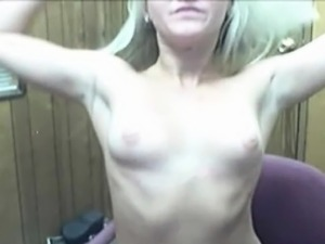 Two playful blonde on camera