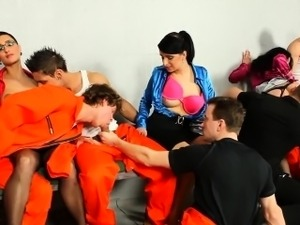 Bisexual prisoners sucked