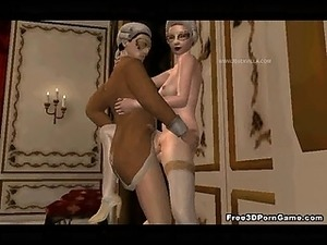 Sexy 3D cartoon blonde babe getting fucked hard