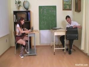 Schoolgirl Teen Blows Her Teacher free