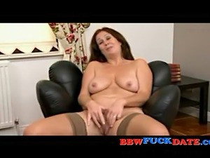 Amateur Irish BBW gets undressed on a interview and talks about sex
