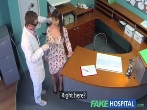 FakeHospital Doctors meat injection eases curvy patients back pain free