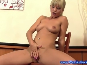 Blowjob euro blonde loves sucking cock and loves jizz