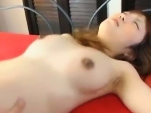 Pregnant asian spitroasted at threeway