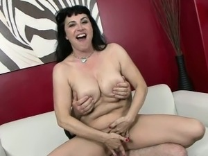 Busty MILF Claudine gets her mature twat fucked hard