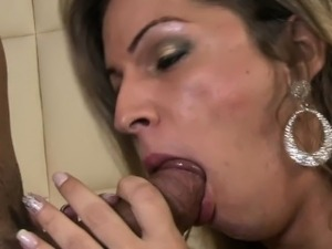 Shemale TS Dani spoiling dick with sweet blowjob