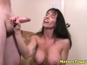 Amateur busty mature mommy toys with dick