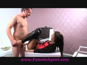 FemaleAgent Lucky amateur gets the casting of a lifetime free
