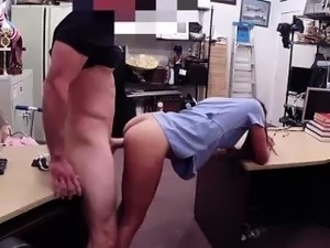 Pretty latina in glasses fucking a guy for cash
