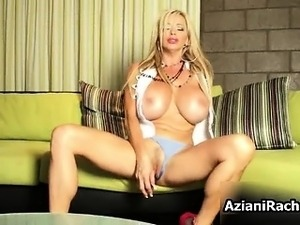 Gorgeous milf blonde laid on a sofa part1