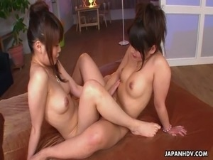 Two cute Japanese babes get shagged hard free