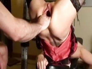 Fierce fist fucking for her insatiable vagina