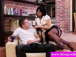 Office dominas ready to peg him