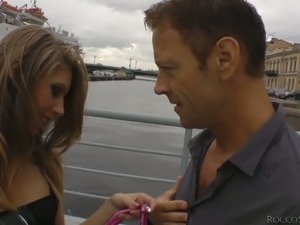Rocco Siffredi has a nice time with Abby H. She's