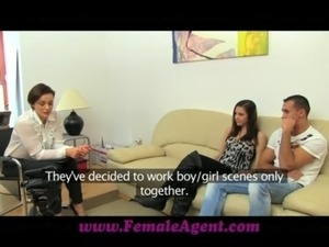 FemaleAgent Real couples passionate casting fuck free