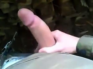 Russian Soldier Jerking Off POV