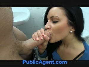 Sexy Clair fucking me in the restaurant toilets