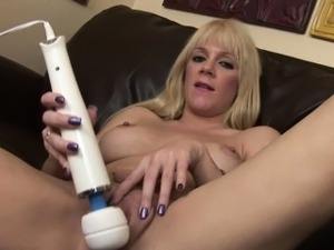 Intense Orgasm with tears for blonde