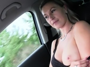Lustful hitchhiker Alena gets fucked