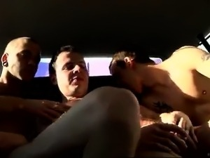 Sexy gay With a jizz-shotgun in his rump and one down his th