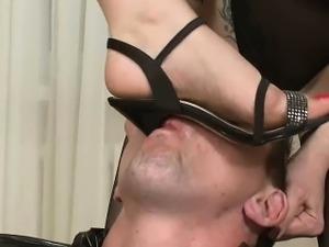 Cruel Russian Bitches dominating guy