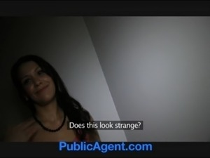 PublicAgent Sexy Spanish brunette sex on the stairs free