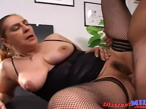 Mature Spanish slut fucked hard in the ass