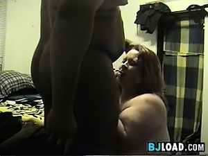 Fat Woman Sucking Her Husbands Black Cock