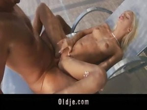 Old braggart manages to fuck young Erica