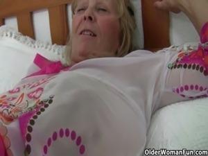 Hottest British grannies still need their daily orgasm free