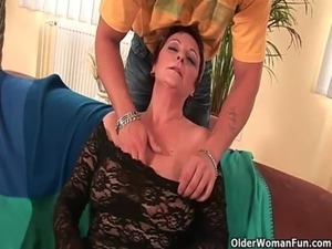 Hairy grannies who love the feeling of fresh cum free