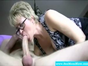 Mature granny has deep throat free