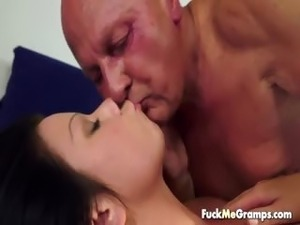 Young chick fucked by old dick