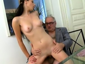 The way she puts her tricky old teacher\'s cock in her mouth
